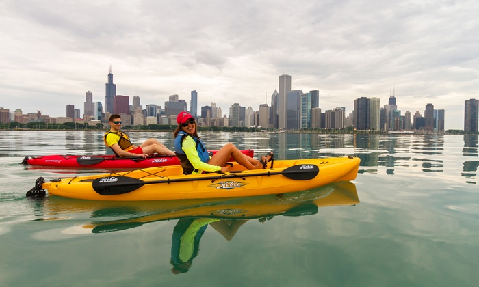 Chicago Water Sport Rentals - Chicago Water Sport Rentals at 31st Street Harbor: Two-Hour Hobie MirageDrive Kayak Rental at Chicago Water Sport Rentals (51% Off). Two Kayak Options Available.