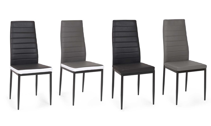Lot de chaises regilux groupon - Lot de 6 chaises noires ...