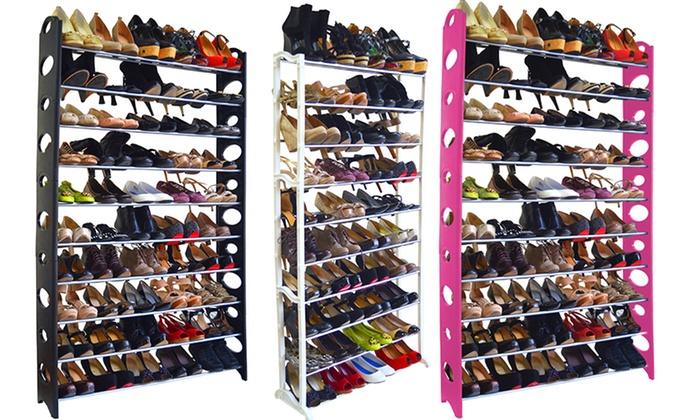 Maison Condelle 40- & 50-Pair Shoe Racks: Maison Condelle 40- or ...