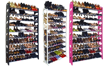 Maison Condelle 40- or 50-Pair Shoe Rack for $27.99 or $29.99
