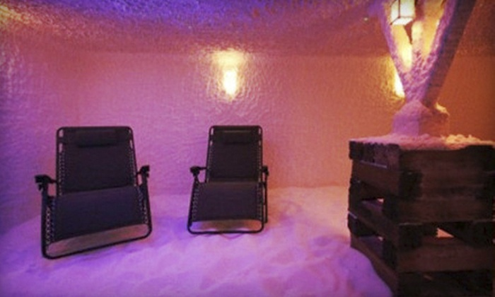 The Centerville Salt Room - Independence Square: Salt-Room Session and Chair Massage for One or Two, or One-Month Membership to The Centerville Salt Room (Up to 54% Off)