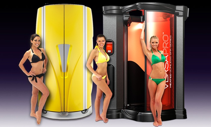 Zoom Tan - Multiple Locations: Spray Tan, One Month of Unlimited UV and Spray Tanning, or Tan and Tasty Spray Mist at Zoom Tan (Up to 53% Off)