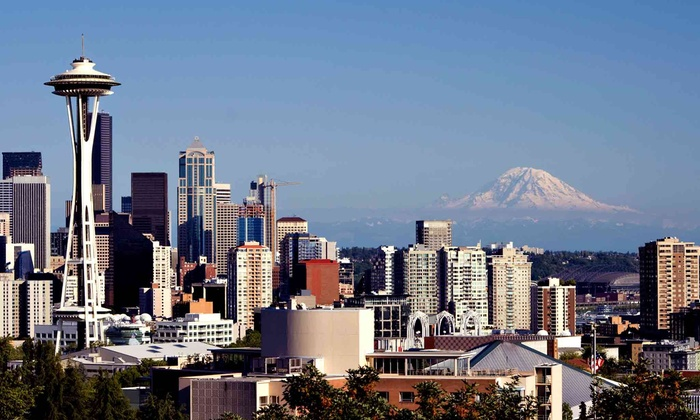 Seattle Qwik Tour - Multiple Locations: 90-Minute Mini-Coach Tour of Seattle for One, Two or Four from Seattle Qwik Tour (Up to 46% Off)