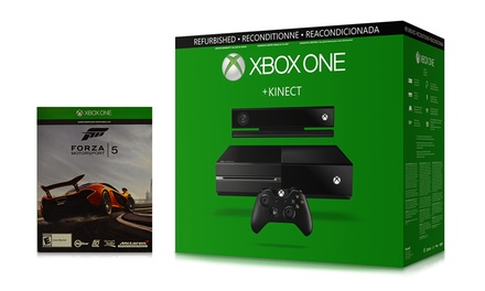 Xbox One Bundle w/ 500GB Console, Kinect Sensor & Forza Motorsport 5 Download Card (Microsoft Certified Reconditioned)