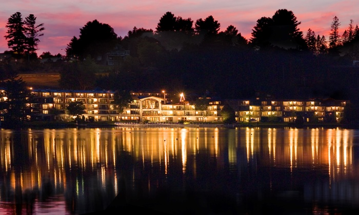 Golden Arrow Lakeside Resort - Lake Placid, NY: Stay with Bottle of Wine or Drink Coupons at Golden Arrow Resort in Lake Placid, NY. Dates into June.