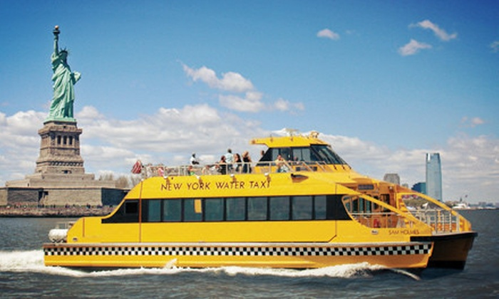 New York Water Taxi - South Street Seaport: Harbor Boat Ride for One, Three, or Six from New York Water Taxi (Up to 55% Off)