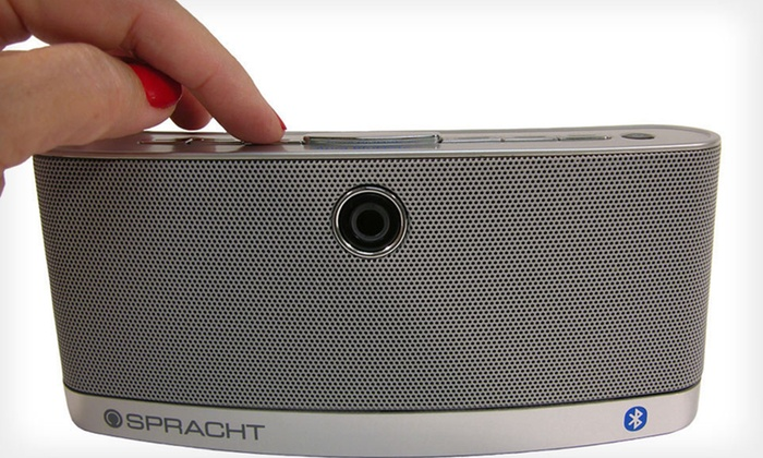 Portable Wireless Bluetooth Speaker: $39 for Spracht Aura BluNote Portable Wireless Speaker ($99 List Price)