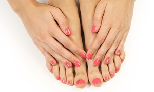 Nicole's Nails and Spa: One or Two Spa Mani-Pedis at Nicole's Nails and Spa (48% Off)