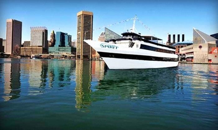 Spirit of Baltimore - Inner Harbor: Three-Hour Dinner Cruise on Sunday–Thursday, Friday, or Saturday from Spirit of Baltimore (Up to 57% Off)