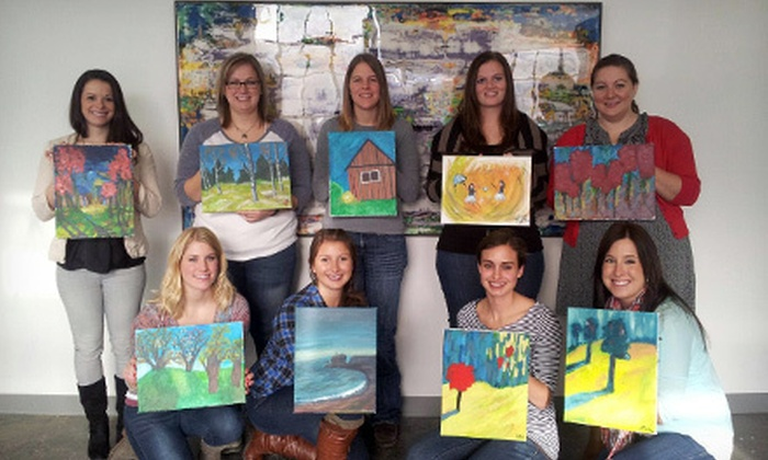 Chaos Art Gallery & Studio - St. Anthony: BYOB Painting Class or Art & Wine Painting Class for One or Two at Chaos Art Gallery & Studio (Up to 62% Off)