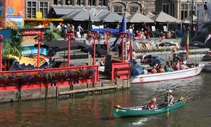 Nomad & Rebel: VIP-kanovaren op de Leie vanaf € 29 door Gent met champagne en amuse van gerookte zalm of oesters bij Nomad & Rebel