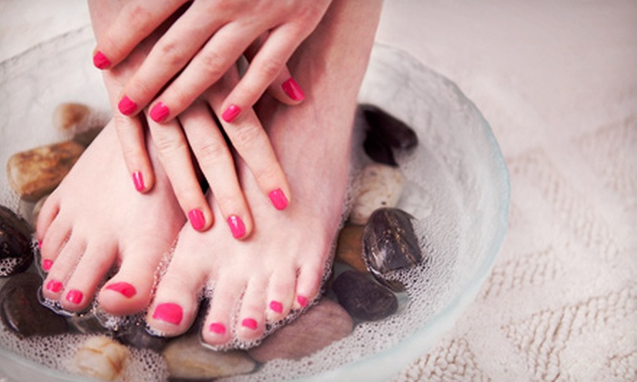 Jon Ric Salon - Lakeview Square: Classic, French, or Deluxe-Spa Mani-Pedi at Jon Ric Salon (Up to 48% Off)