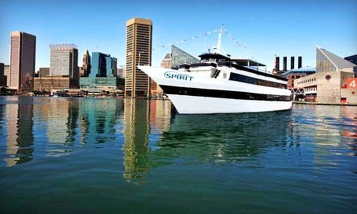 """Spirit of Baltimore - Inner Harbor: Three-Hour Dinner Cruise for One on Sunday–Thursday, Friday, or Saturday at """"Spirit of Baltimore"""" (Up to 41% Off)"""