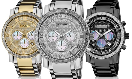 Akribos XXIV Men's Diamond Chronograph Watch