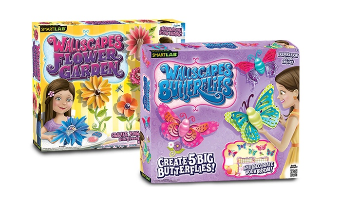 Smart Labs Butterfly and Garden Wallscapes Sets: Smart Labs Butterfly and Garden Wallscapes Sets. Free Returns.