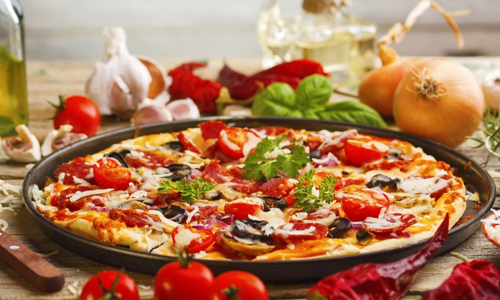 Doughboys Inc.- Pizza, Pasta, Catering - Elk Grove Village: One Large Thin-Crust Pizza at Doughboys Inc.- Pizza, Pasta, Catering (44% Off)
