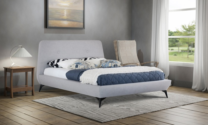 Como Fabric Bed Frame in Choice of Colour and Size with USB Ports and Optional Orthopaedic Tobe Mattress from £240 (46% OFF)