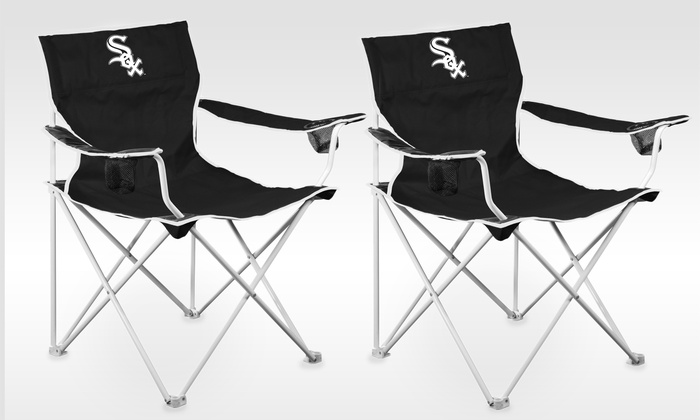 Set of 2 Chicago White Sox Deluxe Folding Fabric Chairs: Set of 2 Chicago White Sox Deluxe Folding Fabric Chairs