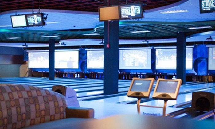 Strike Ten Lanes - Roselle: Bowling Outing with Pizza for Up to Six on Sunday–Thursday or Any Day at Strike Ten Lanes in Roselle (Up to 71% Off)