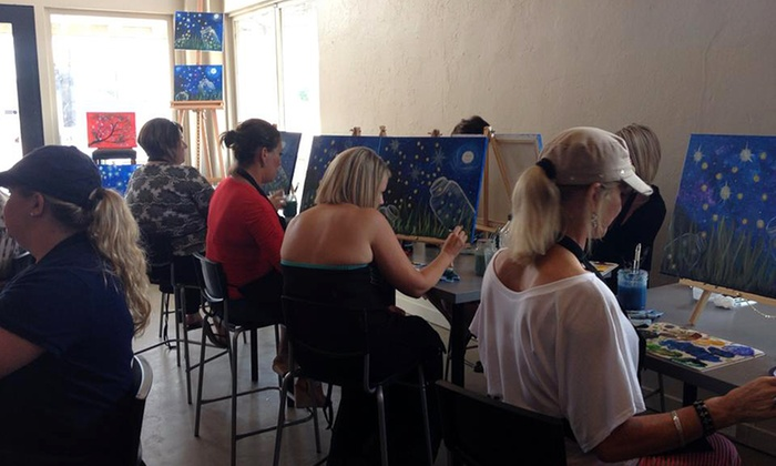 Palettes and Pairings - Brenham: $20 for a BYOB Painting Class for One at Palettes and Pairings ($30 Value)
