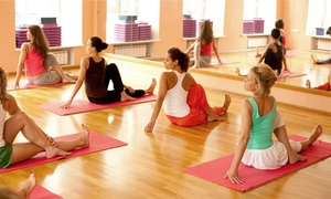 The Fitness Station: 10 or 20 Classes or One Unlimited Month of Yoga or Zumba Classes at The Fitness Station  (Up to 76% Off)
