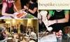 Bespoke cuisine - West Loop: $80 Toward a Cooking Party at Bespoke Cuisine