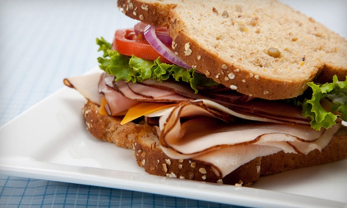 Hillcrest Bakery & Deli - White Rock: Sandwich Meal for Two, 8-Inch Cake, or Deli Platters at Hillcrest Bakery & Deli in White Rock (Up to 58% Off)