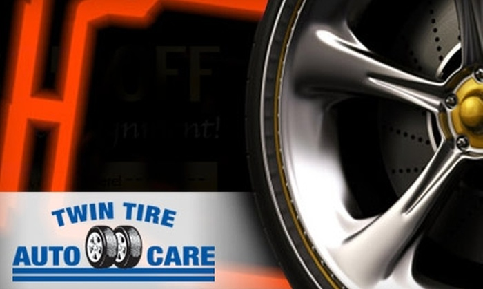 Twin Tire & Auto Care - Multiple Locations: $25 for an Auto-Care Package at Twin Tire & Auto Care ($119 Value)