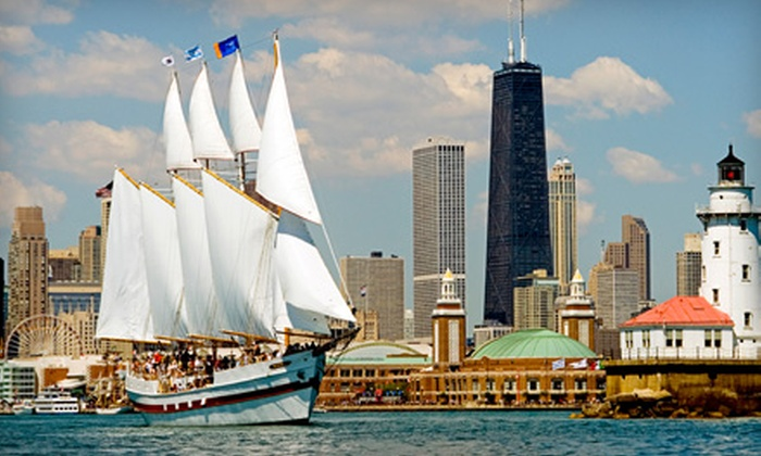 "Tall Ship Adventures of Chicago - Near North Side: $15 for a Cruise on the Tall Ship ""Windy"" from Tall Ship Adventures of Chicago (Up to $30 Value)"