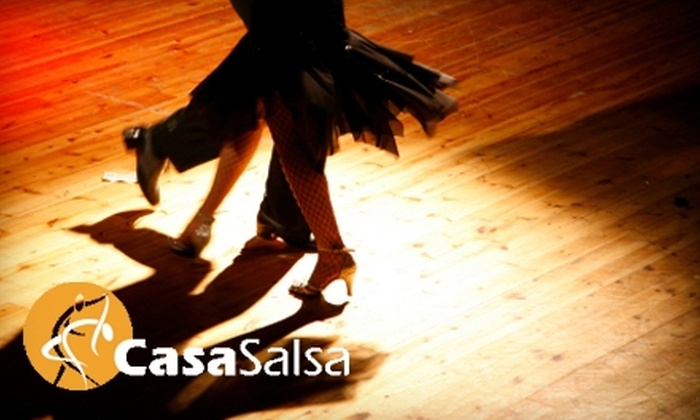 Casa Salsa - Multiple Locations: $30 for Private Salsa Lesson at Casa Salsa ($70 Value) or $20 for Four Group Zumba Lessons ($48 Value)