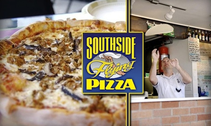 Southside Flying Pizza - Austin: $8 for One Large Specialty Pizza at Southside Flying Pizza (Up to $17 Value)