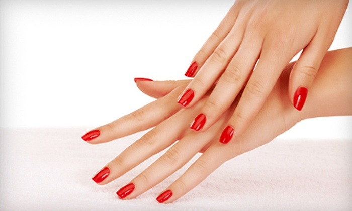 10th Avenue Hair Designs - Southeast Pensacola: One or Three Shellac Manicures with Paraffin-Wax Treatments at 10th Avenue Hair Designs (Up to 59% Off)