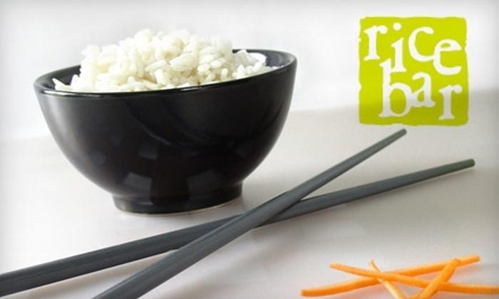 Rice Bar - Dupont Circle: $10 for $20 Worth of Korean Cuisine at Rice Bar