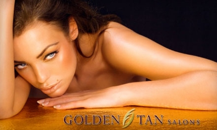 Golden Tan - Multiple Locations: Five Mystic Tanning Sessions or Up to 20 UV Tanning Sessions at Golden Tan (Up to $115 Value). Choose from Two Options.