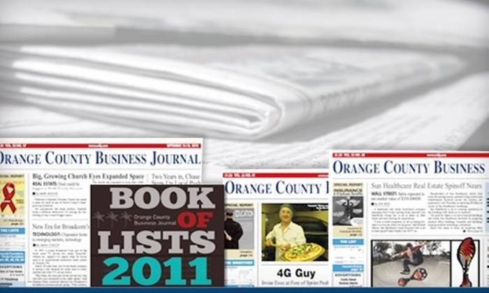 "Orange County Business Journal: $30 for One-Year Subscription to the ""Orange County Business Journal"" ($89 Value)"