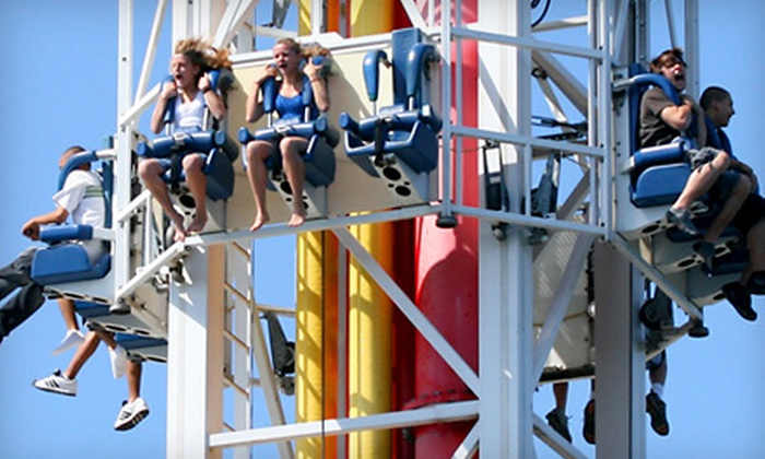 Indiana Beach Amusement Resort - Monticello: Unlimited Ride and Waterpark Pass for One or a Family Pack Pass for Four to Indiana Beach Amusement Resort in Monticello