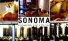 Sonoma Restaurant and Wine Bar / Blue Ridge / Redwood - Capitol Hill: $15 for $30 Worth of Wine and Sustainable Cuisine at Sonoma Restaurant and Wine Bar