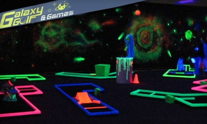 Galaxy Golf and Games - Winder: $6 for Glow-in-the-Dark Mini Golf for Two at Galaxy Golf and Games in Winder ($12 Value)