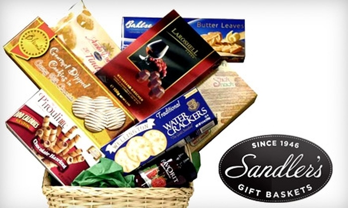 Sandler's Gift Baskets - Westchester County: $31 for an All-Occasion Gourmet Basket ($62.95 Value) or $56 for a Deluxe All-Occasion Gourmet Basket ($112.95 Value) from Sandler's Gift Baskets