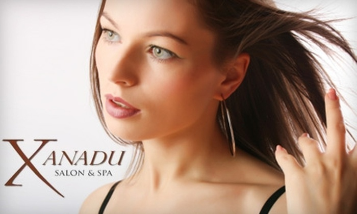 Xanadu Salon & Spa - Emerald Hills: $40 for Mani-Pedi and Paraffin Treatment ($85 Value) or $60 for Facial, Conditioning Treatment, Blow-Dry, and Styling (Up to $130 Value) at Xanadu Salon & Spa