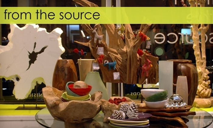 From The Source - Multiple Locations: $50 for $100 of Imported or Custom-Designed Furniture at From the Source