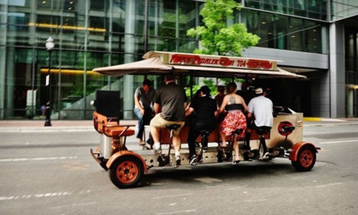 Party Pedaler - Villa Heights: Two-Hour BYOB Party-Bike Bar Crawl for 2, 4, or 14 Through Uptown or South End from Party Pedaler (Up to Half Off)