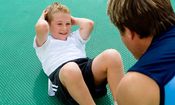 My Gym - Multiple Locations: Kids' Fitness Package with Four or Eight Classes, Free-Play Sessions, and Lifetime Membership to My Gym (Up to 74% Off)