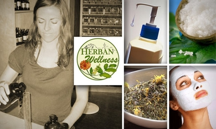 Herban Wellness - Moss Bay: $10 for a Class on Homemade Bath Products or Herbal Remedies at Herban Wellness in Kirkland (Up to $30 Value)