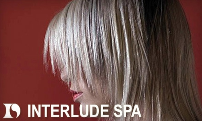 Interlude Spa - Multiple Locations: $22 for a Women's Spa Cut and Style (up to a $46 value) or $13 for a Men's Spa Cut and Style (a $26 value) at Interlude Spa. Two Locations Available.