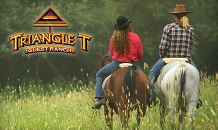 Triangle T Guest Ranch - Benson: $45 for a One-Hour Horseback-Riding Session for Two at Triangle T Guest Ranch in Dragoon