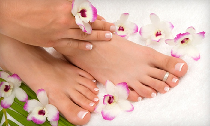 Art Salon and Spa - Downtown: Spa Mani-Pedi or Pure Bliss Spa Package with a Mani-Pedi, Massage, and Mini Facial at Art Salon and Spa (Up to 61% Off)