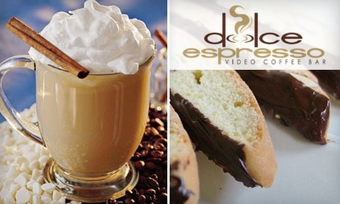 Dolce Espresso Video Coffee Bar - Camelback East: $5 for $10 Worth of Coffee, Paninis, and More at Dolce Espresso Video Coffee Bar