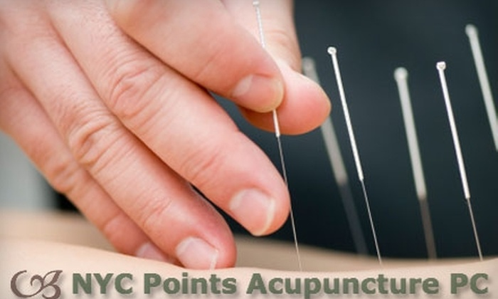 NYC Points Acupuncture - Multiple Locations: $45 for an Initial Consultation and Acupuncture Treatment at NYC Points Acupuncture ($100 Value)