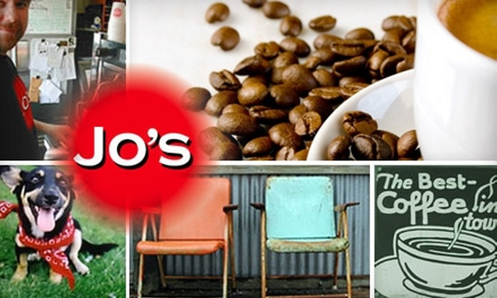 Jo's Coffee - Multiple Locations: $5 for $10 Worth of Eats and Drinks or $25 for $50 Worth of Catering at Jo's Coffee